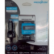 BATTERY CHARGER USB AUTO/CASA MEDIACOM