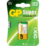 BATTERIE GP SUPER 9V ALKALINE 1PZ.