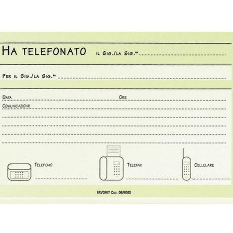 BLOCCO APPUNTI TELEFONO FAVORIT